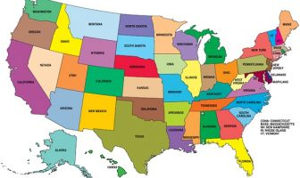 Amerika Haritası - USA Map