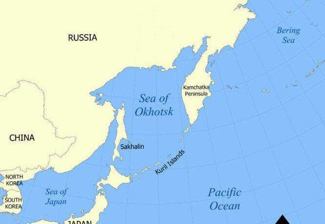 Kuril Adaları Haritası