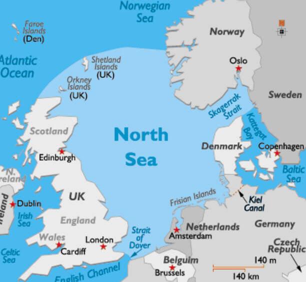 Kuzey Denizi Haritası