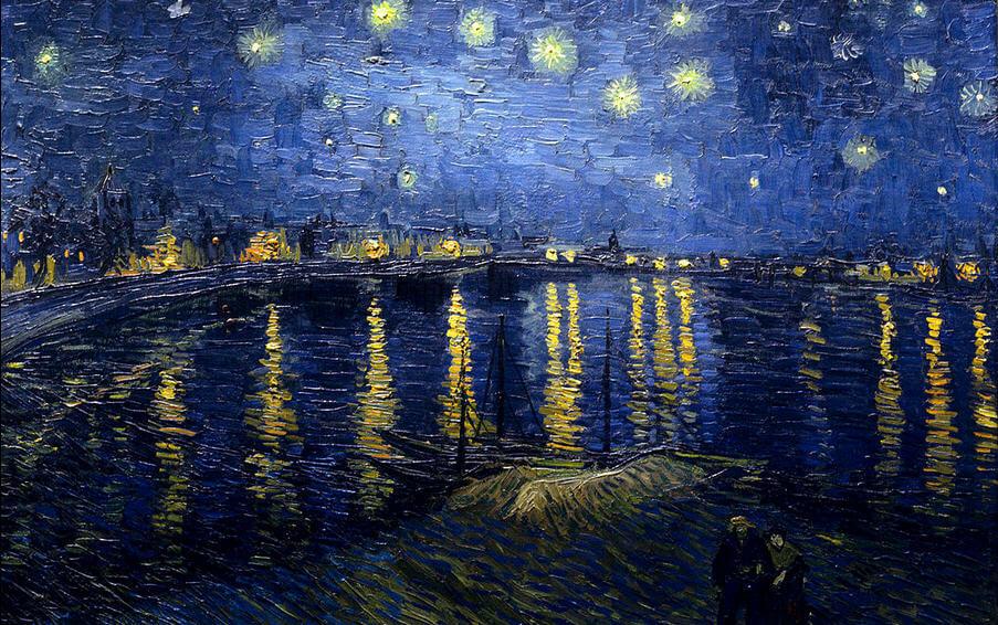 Vincent-van-Gogh-Rhone-uzerine-yildizli-bir-gece