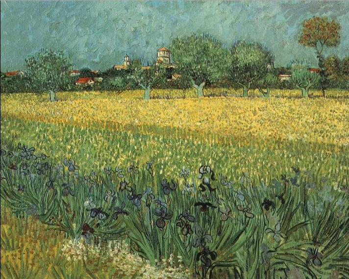 Vincent-van-Gogh-irislerle-arles-manzarasi