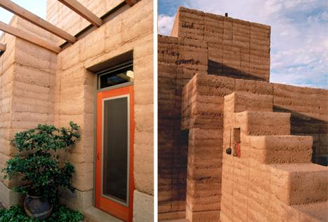 Paul Weiner'in sıkıştırılmış toprak evi