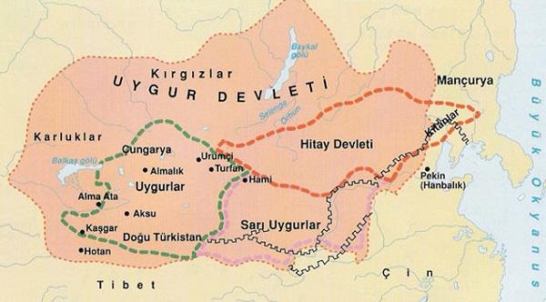 Uygur Devletleri Haritası