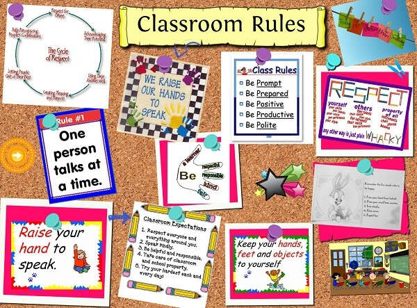 Biology Classroom Decoration Ideas ~ Resimli İngilizce sınıf kuralları classroom rules