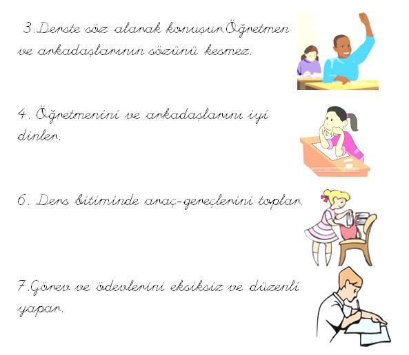 Resimli Sınıf Kuralları