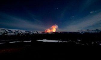 İzlanda'da ki Volkan Patlama Resimleri