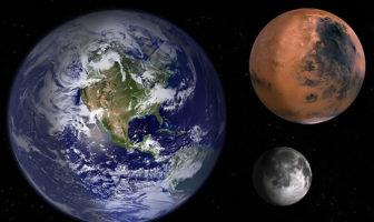 Mars Dünya ve Ay