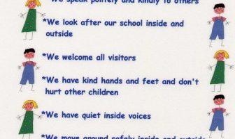 Resimli İngilizce Okul Kuralları (School Rules)