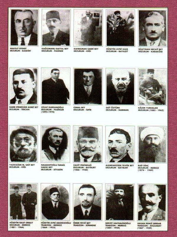 Erzurum Kongresi Katılanlar