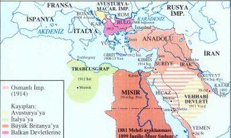 Osmanlı Gerileme Dönemi Haritası