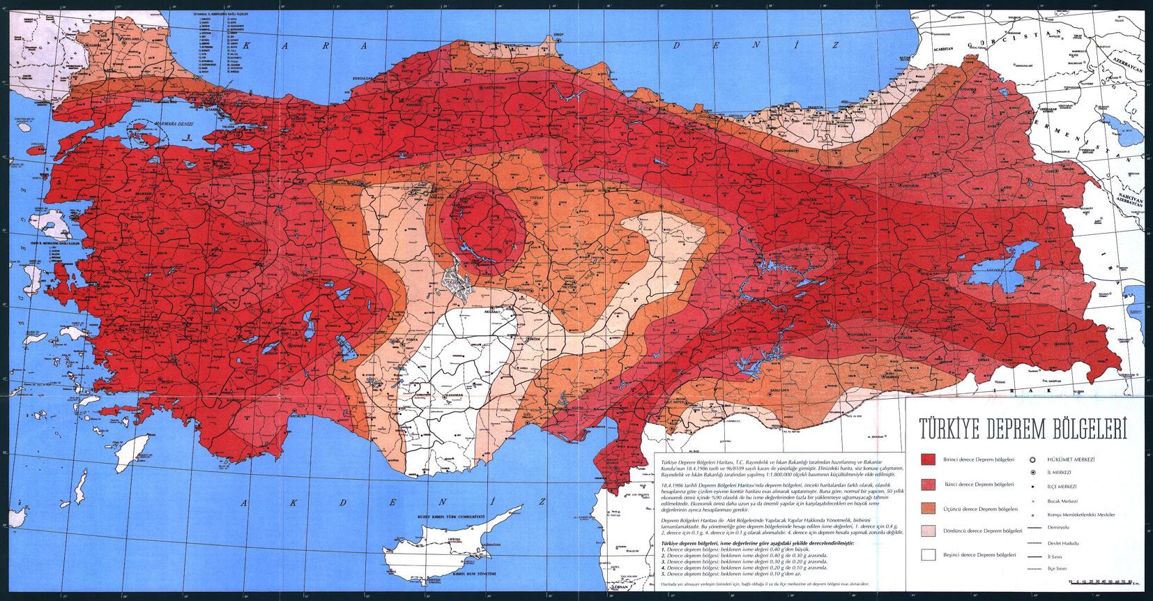 Deprem Bölgeleri