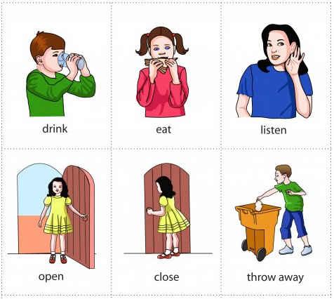Resimli İngilizce Fiiller