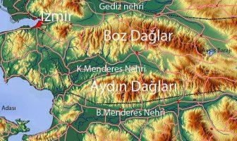 Aydın Dağları Haritası