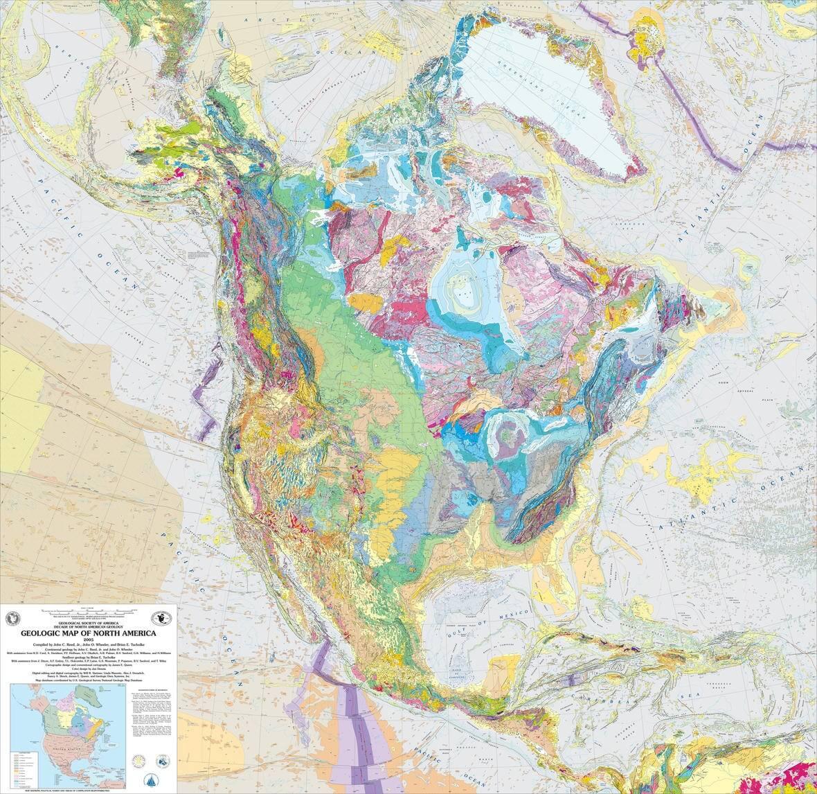 Kuzey Amerika Jeolojik Haritası