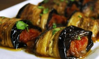 Zeytinyağlı Patlıcan Rulosu Tarifi