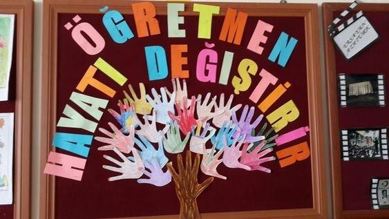 24 Kasım Öğretmenler Günü Pano Çalışmaları