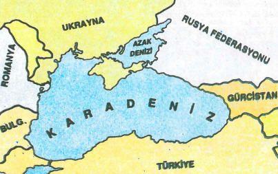 Azak Denizi Harita