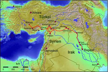 Bağdat Demiryolu Hattı Hartası