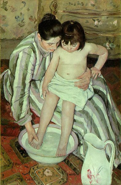 Mary Cassatt, The Child's Bath (The Bath), 1893, oil on canvas, Art Institute of Chicago