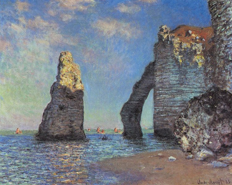 Claude Monet - The Cliff at Étretat after the Storm - 1885