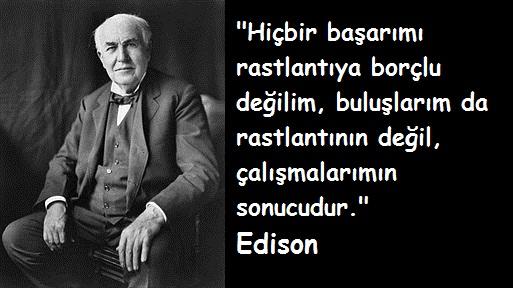 Çalışmak ile ilgili Edison sözü