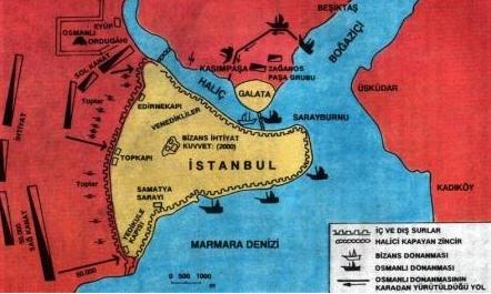 İstanbul'un Fethi Harita