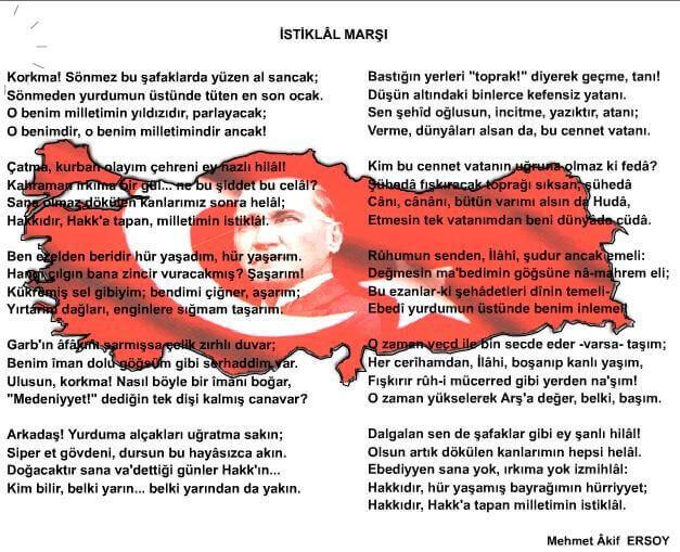 Learn These 12 Mart Istiklal Marsinin Kabulu Pano Calismalari