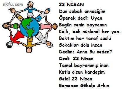 Resimli 23 Nisan Şiirleri