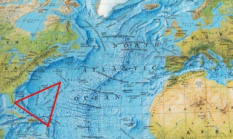 Bermuda Şeytan Üçgeni Harita
