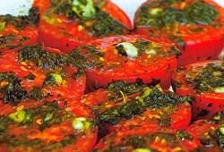 Pesto Soslu Fırın Domates Tarifi