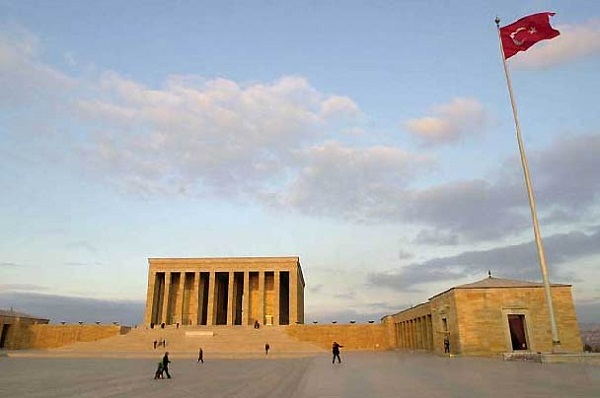 ANKARA is the site of the mausoleum of Kemal Atatürk, founder and first president of the Turkish Republic. The mausoleum, which took 19 years to build, was dedicated on Nov. 10, 1953, the 15th anniversary of Atatürk's death.