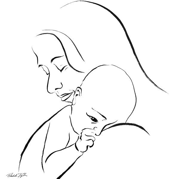 Рисунки младенца карандашом своими руками 4