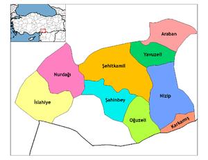 Gaziantep İlçe Haritası