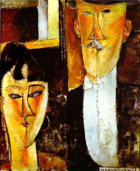 Amedeo Modigliani - Bride and Groom, 1915