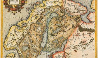 1595 yılına ait Danimarka Norveç haritası