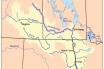 Assiniboine Irmağı Haritası