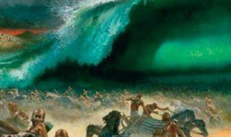 Kızıldeniz'in Yarılması mucizesini anlatan bir tablo