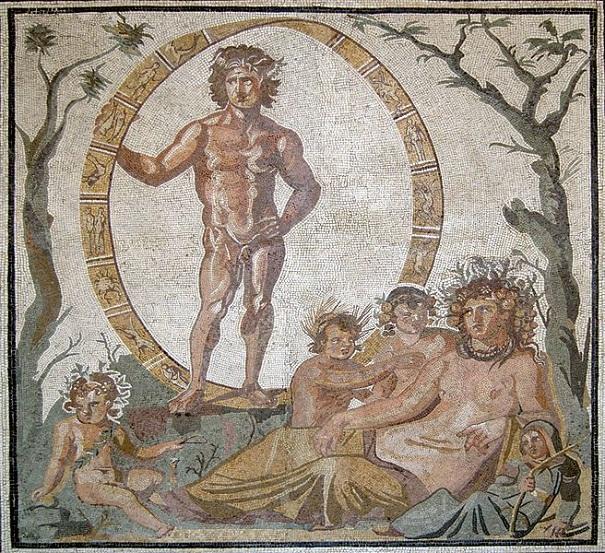Uranüs ve ailesi mozaiği