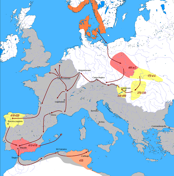 Vandallar Göç Haritası