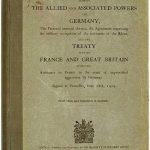 Versay Barış Antlaşması Kapağı
