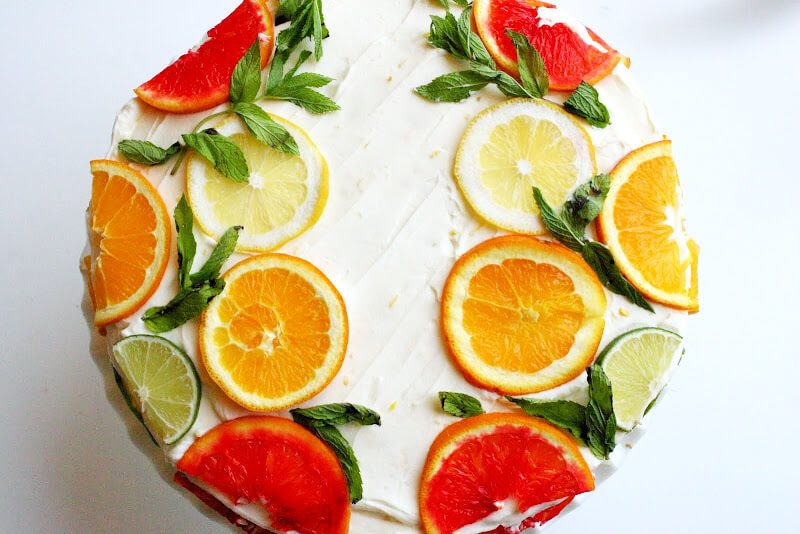 Limonlu Portakallı Pasta Tarifi