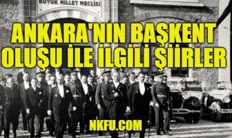 Ankara'nın Başkent Oluşu İle İlgili Şiirler