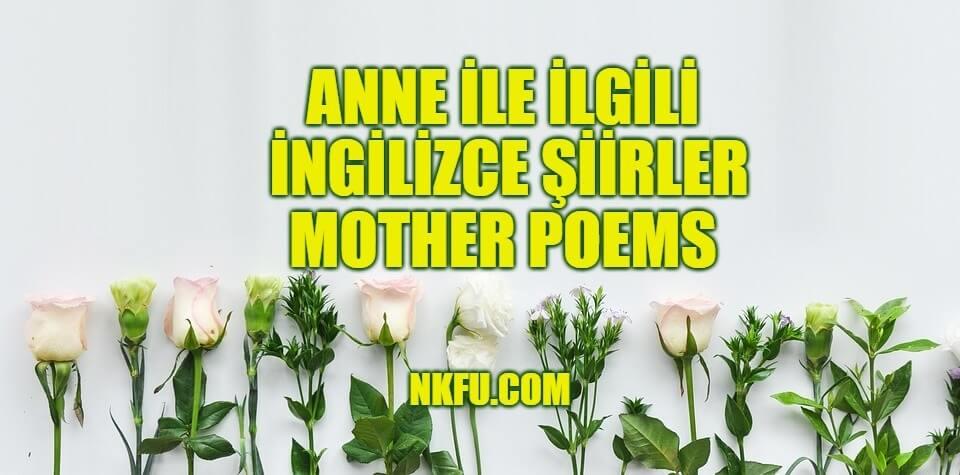 Anne ingilizce şiirleri