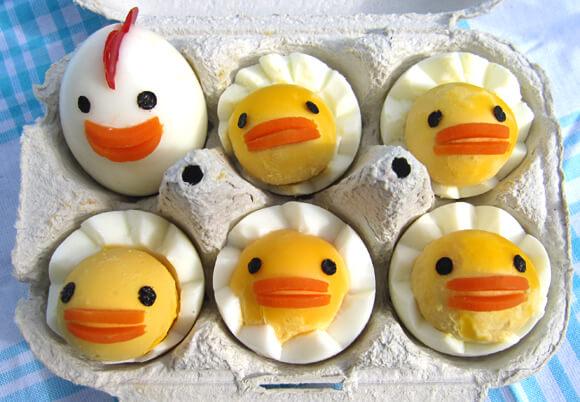 Haşlanmış Yumurtalardan Civciv Ailesi