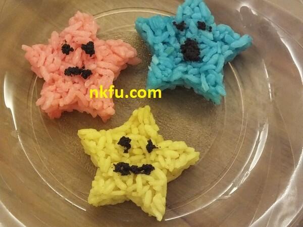 Renkli Yıldız Pilavlar - Süslemeler