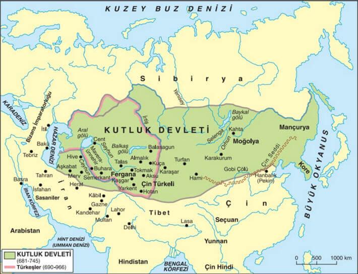 Kutluk Devleti Haritası