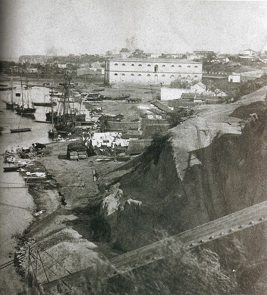 1868 yılında Rosario limani