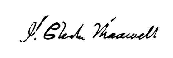 James Clerk Maxwell imzası