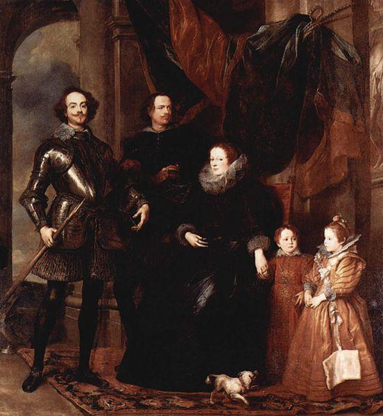 Anthony van Dyck - Lomelli Ailesi'nden Genoan Kibri, 1623