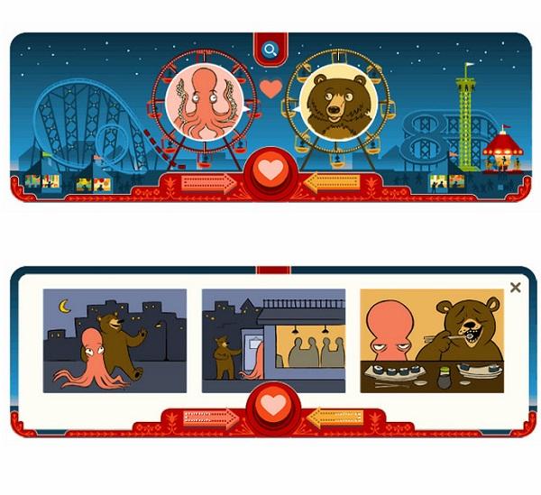 14 Şubat 2013 Google Doodle